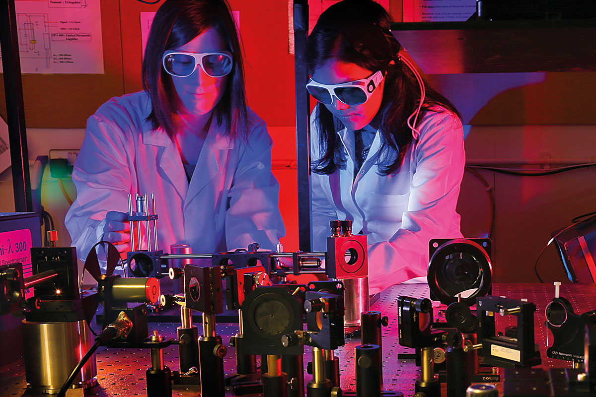 two scientists working in a lab; PGCiLT