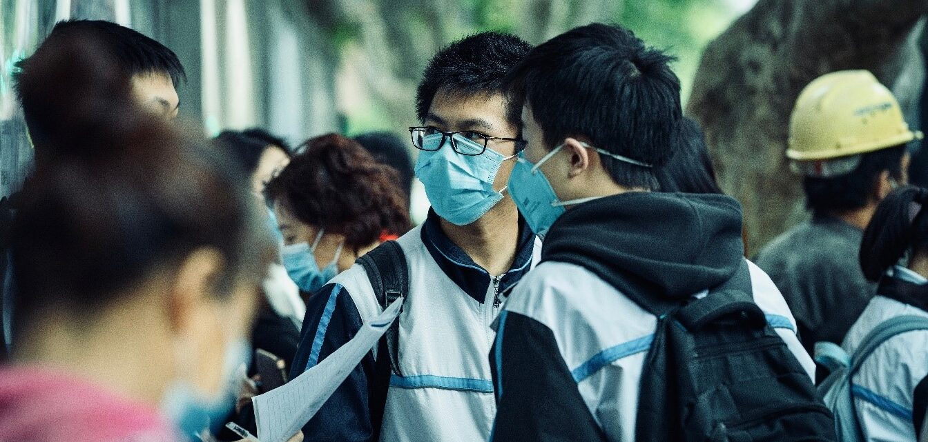 students wearing masks